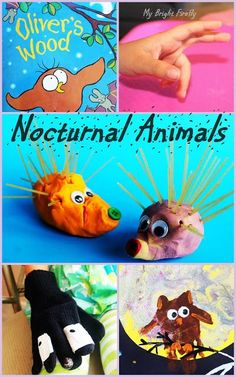 Nocturnal Animals Preschool Activities: Owl, Badger, and Hedgehog. Nocturnal Animals Easy Crafts - turned out excellent for fine motor skills practice!