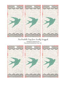 Sweetly Scrapped: Free Printable Bird Tags