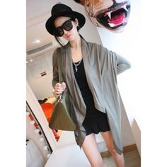 Elegant Long Sleeves Solid Color Loose Fit Cotton Blend Women's Tarmac Blouse  $14.31
