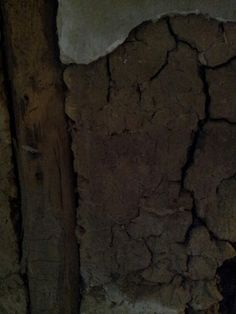 Close up of of the mud wall.