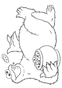 Print Coloring Image Cookie Monster PartySesame Street PagesColouringColoring