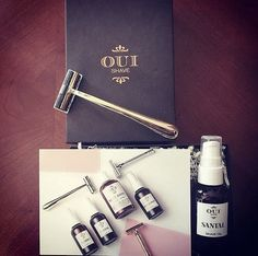 This #EcoDiva  @ccmercilavie is ready to shave in luxury with our Oui Shave Kit! Including the golden Charlotte Razor and Santal Shave Oil the kit feels indulgent every time you shave. Enjoy!  #ecodivalovesyou