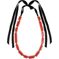 Stefanel Necklace (€20) via Polyvore featuring jewelry, necklaces, brick red, 2 tone necklace, stefanel, two tone necklace e two tone jewelry