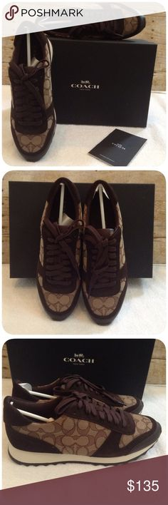 Coach Sneakers Upper leather/suede with signature brand, lace up design with blind eyelets, textile lining and insole. I'm sorry but I don't trade. Bin53 Coach Shoes Sneakers