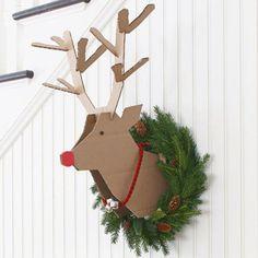Un trophée renne de Noël