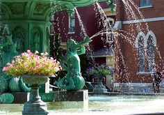 downtown madison indiana | Fountain in downtown Madison, Indiana (USA) photo - carol j. phipps ...