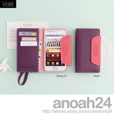 Smart Multi Case Ardium Korean Wallet Cute Case for iPhone4 4S Galaxy S3 S2 LTE | eBay (The navy and Green is cute)