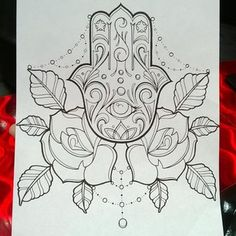 rose and hamsa tattoo - Google Search