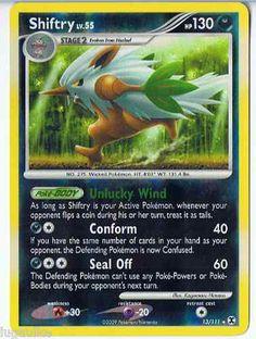 Pokemon Card Rising Rivals Reverse Holo Rare Shiftry 13/111 FREE combined ship