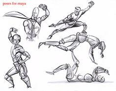 fighting poses for maya06 by AlexBaxtheDarkSide.deviantart.com on @deviantART