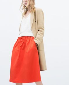 ZARA - WOMAN - FULL SKIRT WITH ELASTIC WAIST