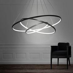 90W Lampe suspendue , Contemporain Peintures Fonctionnalité for LED MétalSalle de séjour Salle à manger Bureau/Bureau de maison chambre de 4745723 2017 à €238.23