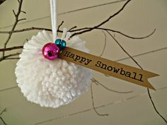 Dreaming of a white Christmas? Christmas Pom Pom Crafts, Christmas Gifts For Kids, Craft Stick Crafts, Holiday Ornaments, Christmas Holidays, Christmas Crafts, Christmas Decorations, Diy Crafts, White Christmas