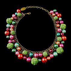 """1050's Style """"Bubble Pearls"""" Collar - Konplott"""