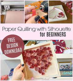 If you're new to paper quilling a few tools like the Silhouette CAMEO and a paper quilling tool kit make it super easy fast to get started -. Silhouette School Blog, Free Silhouette, Silhouette America, Silhouette Files, Silhouette Studio, Silhouette Cameo Tutorials, Silhouette Projects, Paper Quilling Patterns, Learn Calligraphy