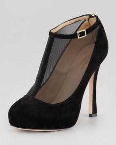 neveah mesh t-strap bootie by kate spade new york at Neiman Marcus.