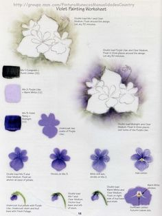 Violet step sheet by Priscilla Hauser.
