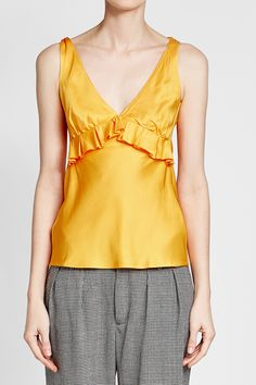 MAGGIE MARILYN - The Diana Cami Top | STYLEBOP Yellow Style, Yellow Fashion, Cami Tops, Diana, Shopping, Women, Blouses, Clothing