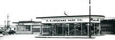 1950s Nash cars showroom