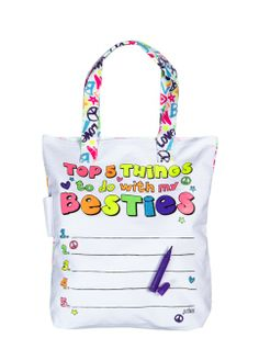 Besties Autograph Tote | Girls New Arrivals Features | Shop Justice