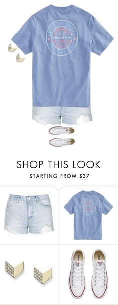 """""""Untitled #1568"""" by laurenatria11 ❤ liked on Polyvore featuring Topshop, FOSSIL and Converse"""