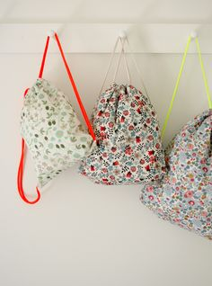 DIY Liberty Backpacks from Corinne's Thread at The Purl Bee blog #diy #backpack #bag