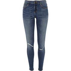 Mid Wash Amelie Superskinny Reform Jeans | River Island