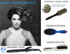 Eh sì, il 2016 è proprio l'anno delle novità per Bio Ionic: spazzole districanti, termoregolatrici, con setole di cinghiale inclinate per effetti piega sorprendenti e uno strumento come il Long Barrel Styler, una vera bacchetta magica per la creatività dei parrucchieri. Con strumenti come questi... che la Piega Benessere abbia inizio!