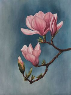 ARTFINDER: Magnolia by Eva Gad - Please contact me for international shipping rates Fabric Painting, Painting & Drawing, Watercolor Flowers, Watercolor Paintings, Magnolia Paint, Illustration Blume, Floral Drawing, Flower Art, Art Drawings