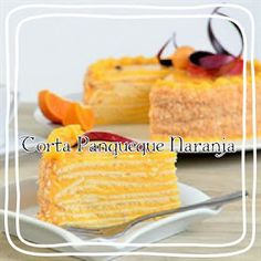 Torta panqueque de naranja - Cata Martínez N Chilean Recipes, Cata, Pudding, Cheese, Fruit, Cooking, Desserts, Food, Clean Eating Pancakes