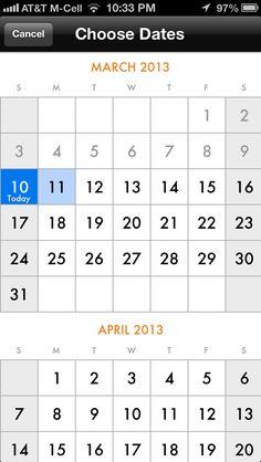 Calendar Screenshots :: Mobile Patterns