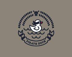 Pirate Duck Logo Design | More logos http://blog.logoswish.com/category/logo-inspiration-gallery/ #logo #design #inspiration