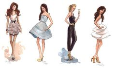 dibujos de vestidos de noche - Buscar con Google