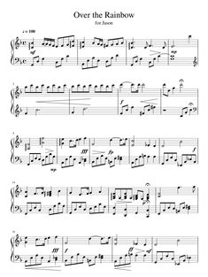 Over the RainBow Sheet Music Crafts, Sheet Music Pdf, Printable Sheet Music, Song Sheet, Piano Sheet Music, Violin Music, Piano Songs, Cello, Piano Lessons