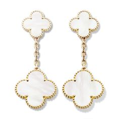 $6,200 Magic Alhambra earclips, 2 motifs,Gold-carousel-VCARD78800-Van Cleef & Arpels