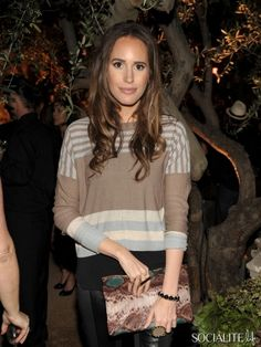 TV personality Louise Roe attends the Restoration Hardware Spring 2012 Launch