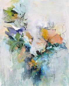 """Daily Paintworks - """"Floral 8"""" - Original Fine Art for Sale - © Karen Hale"""