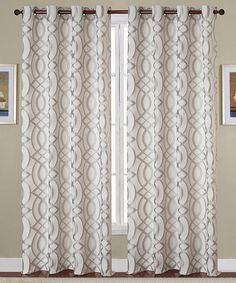 Look what I found on #zulily! Silver Jacquard Dawson Curtain Panel - Set of Two #zulilyfinds
