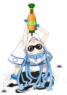 splatoon x squid girl Wii U, Splatoon Tumblr, Game Character, Character Design, Ika Musume, Squid Girl, Callie And Marie, Step By Step Drawing, Best Games