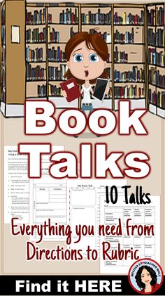 Book Talks are the perfect Book Report. Students practice speaking and listening as well as planning and organizing. It is a great way to assess comprehension and holds the students accountable for their independent reading. Student instructions, organizers, and planning sheets will help the class create fun engaging Book Talks. Included are 10 different Book Talks that are designed to guide your class to comprehensive and exciting presentations. Create a BUZZ about reading and make it fun.
