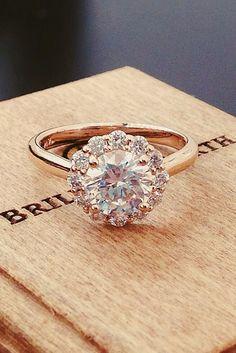 30 Rose Gold Wedding Rings You'll Fall In Love ❤️ See more: http://www.weddingforward.com/rose-gold-wedding-rings/ #wedding