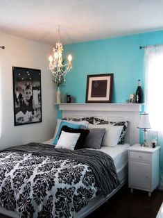 Bedroom, 8 Fresh and Cozy Tiffany Blue Bedroom Ideas: Tiffany Blue And Black Bedroom Ideas