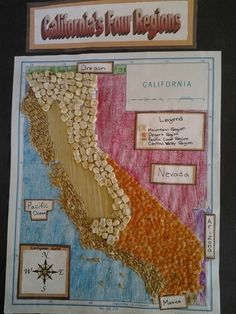 Ideas for state maps California Regions Project - click through to see the variety Absolutely need to do more with ELLs Social Studies Projects, 3rd Grade Social Studies, Social Studies Curriculum, Teaching Social Studies, Curriculum Design, Homeschool Curriculum, Teaching Tools, Homeschooling, California Regions