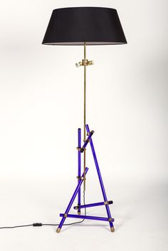 Max Ingrand; Glass and Brass Floor Lamp by Fontana Arte, 1955.