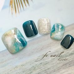 Gel Pedicure Designs Blue 58 Ideas in 2020 Pedicure Designs, Pedicure Nail Art, Toe Nail Designs, Toe Nail Art, Diy Nails, Swag Nails, Love Nails, Pretty Nails, Feet Nail Design