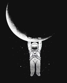 Art print more cosmos, astronaut illustration Art And Illustration, Astronaut Illustration, Design Illustrations, Art Hipster, Hipster Design, Theme Tattoo, Art Watercolor, Stars And Moon, Cool Art