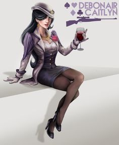 Caitlyn sexy police suit league of legends hentai