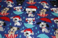 Rainy Day Dog Blizzard Fleece Dog blanket multi dog Fleece low price fleece free shipping available SHIPS FAST lots of dogs F561 by FabricPremier on Etsy