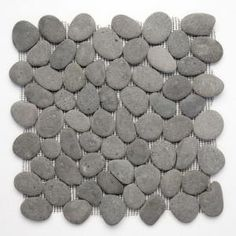 Solistone River Rock River Gray 12 In. x 12 In. Stone Pebble Mosaic Floor & Wall Tile $130.00 /CA-Case