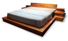 Diy Wood Platform Bed Frame Reclaimed Wood Bed | Bed and Comforter ...